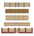 Wooden fences and gates vector image