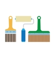 work tools - paint brush and roller vector image