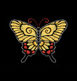 yellow red butterfly vector image vector image