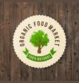 organic food market paper label vector image