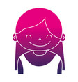 silhouette girl with long hair and blouse design vector image