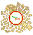 template with pasta and label vector image