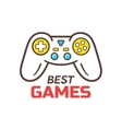 Games store logo template Game controller icon vector image