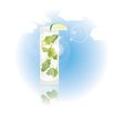 glass of mojito vector image