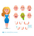 student woman emotion faces vector image