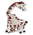 giraffe sitting vector image