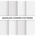 seamless striped patterns white and grey vector image