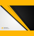 abstract of modern yellow black and white vector image vector image