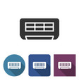 air conditioner icon in different variants vector image vector image