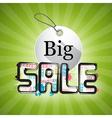 Big Sale Green Background vector image vector image