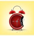 bitten red clock vector image