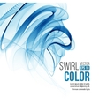blue swirl line abstract background vector image