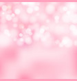 bokeh pink and white sparkling lights festive vector image vector image