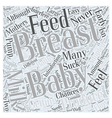 Breast Feeding Adopted Babies Word Cloud Concept