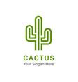 cactus logo vector image