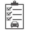 car maintenance list icon on white background vector image