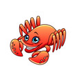 cartoon crab isolated vector image
