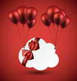 Celebrate cloud background with balloons vector image vector image