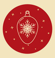christmas bauble icon in thin line style vector image vector image