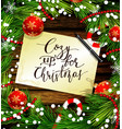christmas design on wood vector image