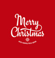 christmas vintage lettering with xmas sign on red vector image vector image