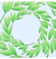Circular frame of green branches and leaves vector image vector image