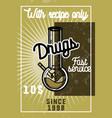 color vintage drugs banner vector image vector image