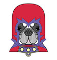 comic villain symbol in costume with cape mask vector image vector image