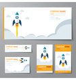corporate identity template startup vector image