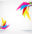 creative abstract rainbow template background vector image vector image