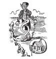 crooked man vintage vector image vector image