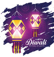 diwali lanterns to hindu lights festival vector image vector image