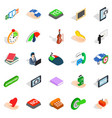 duologue icons set isometric style vector image vector image
