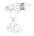 electric cordless screwdriver vector image