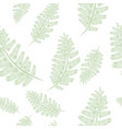 fern frond silhouettes seamless pattern floral vector image vector image