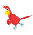 Funny Parrot skater vector image vector image