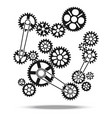 gears cogs and wheels engine transmission vector image vector image