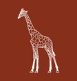 giraffe silhouette sign vector image vector image