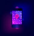 gps navigation app on mobile phone vector image