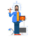 graphic designer flat style image in a cartoon vector image