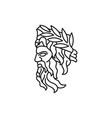 greek god zeus line art logo ancient god vector image vector image