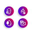 health skin oil drop and sun cream icons set 24 vector image vector image
