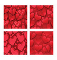 heart on valentines day in love seamless pattern vector image