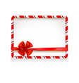 holiday stripe frame-08 vector image vector image
