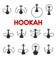 hookah or shisha smoking icons vector image