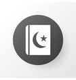 Islam book icon symbol premium quality isolated vector image