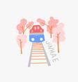 jinhae gunhangje festival doodle flat vector image