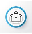 logout icon symbol premium quality isolated exit vector image