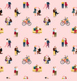 love couples people pattern vector image vector image