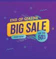 modern big sale banner vector image vector image